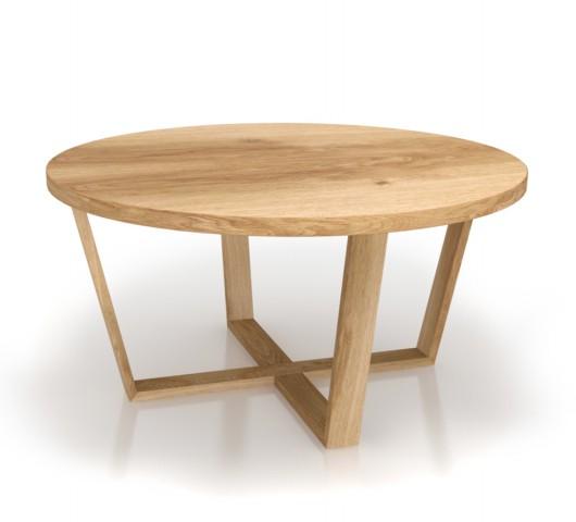 Τραπέζι σαλονιού - κουζίνας στρογγυλό ξύλινο
