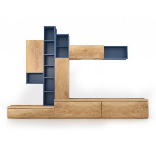 Σύνθετο με θέση για τηλεόραση, χώρους για βιβλία και μικροαντικείμενα
